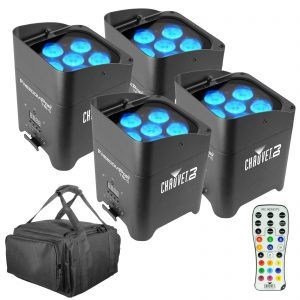 4 Chauvet DJ Freedom Par Tri 6 Bundle
