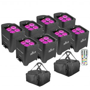 8 Chauvet DJ Freedom Par Lighting System